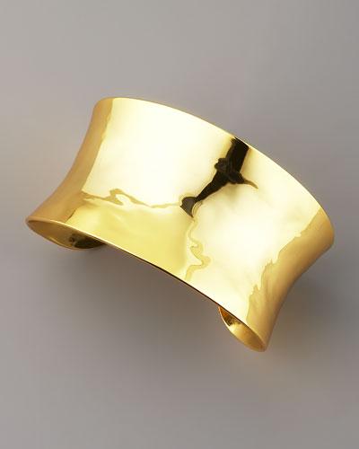 Nest Concave Gold Cuff