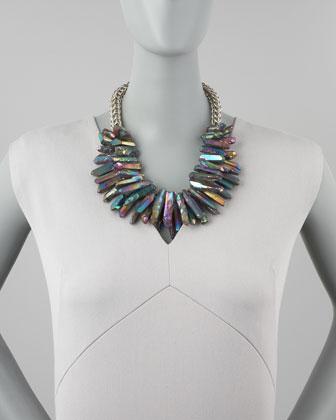 Nest Quartz Point Collar Necklace-1