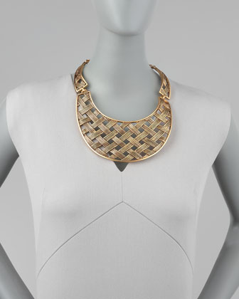 Oscar de la Renta Basketweave Collar Necklace-1