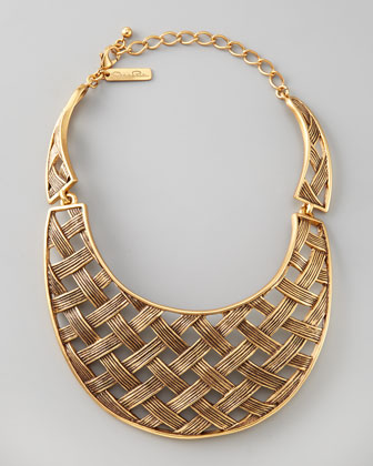 Oscar de la Renta Basketweave Collar Necklace