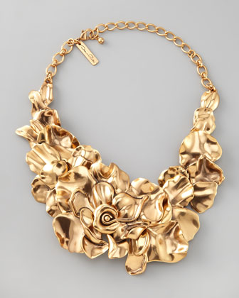 Oscar de la Renta Large Flower Collar Necklace