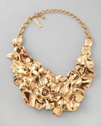 Oscar de la Renta Large Flower Collar Necklace