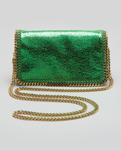 Stella McCartney Crackled Metallic Crossbody Bag