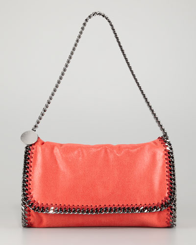 Stella McCartney Falabella Faux-Leather Fold-Over Clutch Bag-1