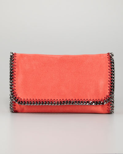 Stella McCartney Falabella Faux-Leather Fold-Over Clutch Bag