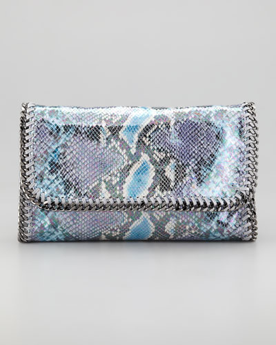 Stella McCartney Falabella Faux Python Clutch