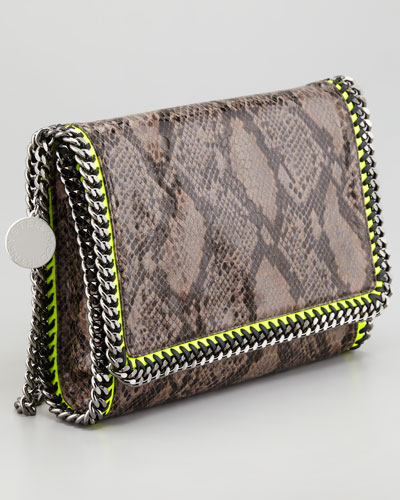 Stella McCartney Faux Python Falabella Shoulder Bag-1