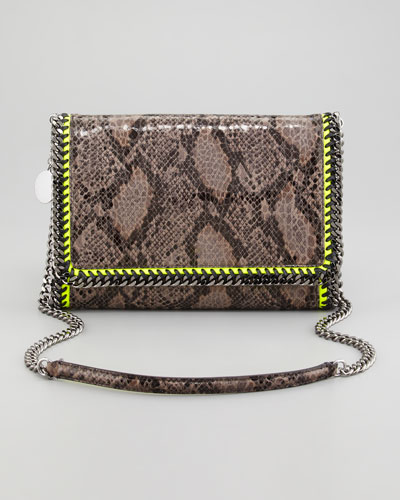 Stella McCartney Faux Python Falabella Shoulder Bag