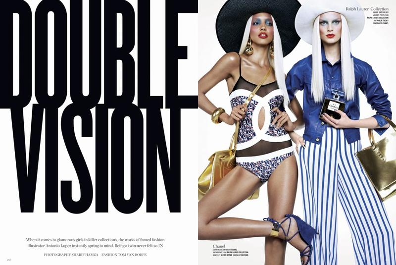 V Magazine double vision