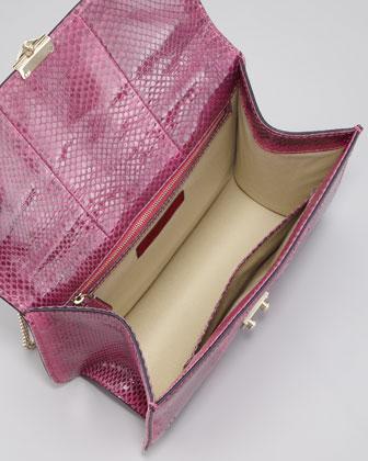 Valentino Ayers Snakeskin Lock Bag-1