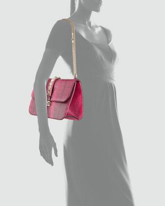 Valentino Ayers Snakeskin Lock Bag-2