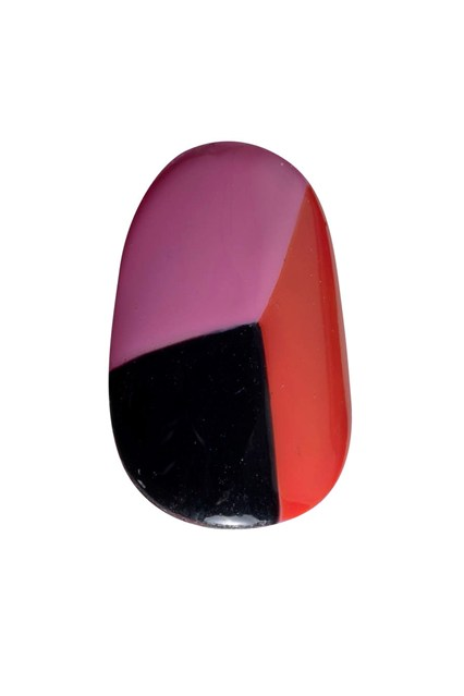 A bright nail design inspired by the look.