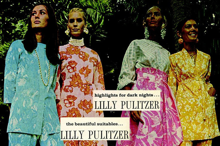 A Lilly Pulitzer ad from 1971