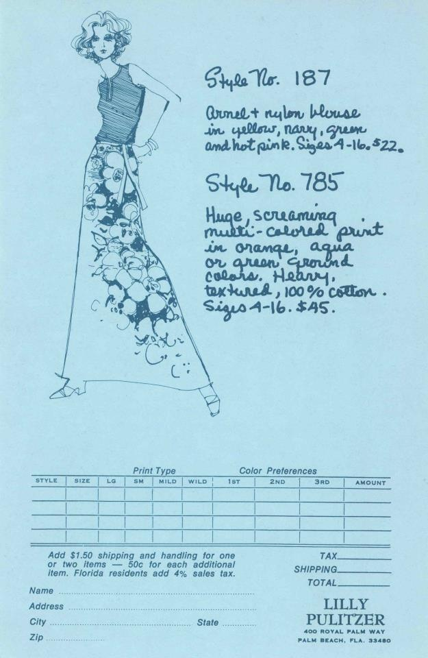 A Lilly Pulitzer style from 1973.