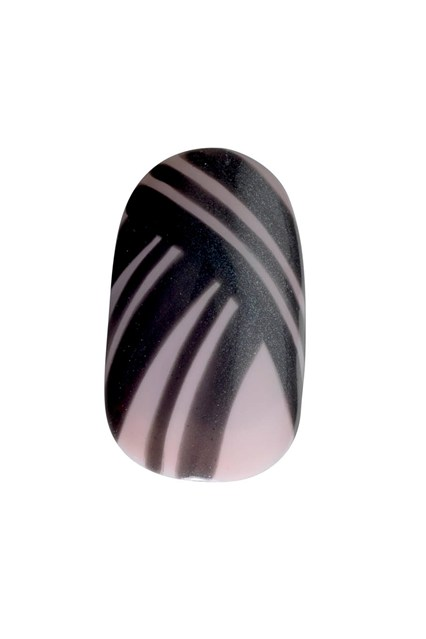 A monochromatic nail design inspired by the look
