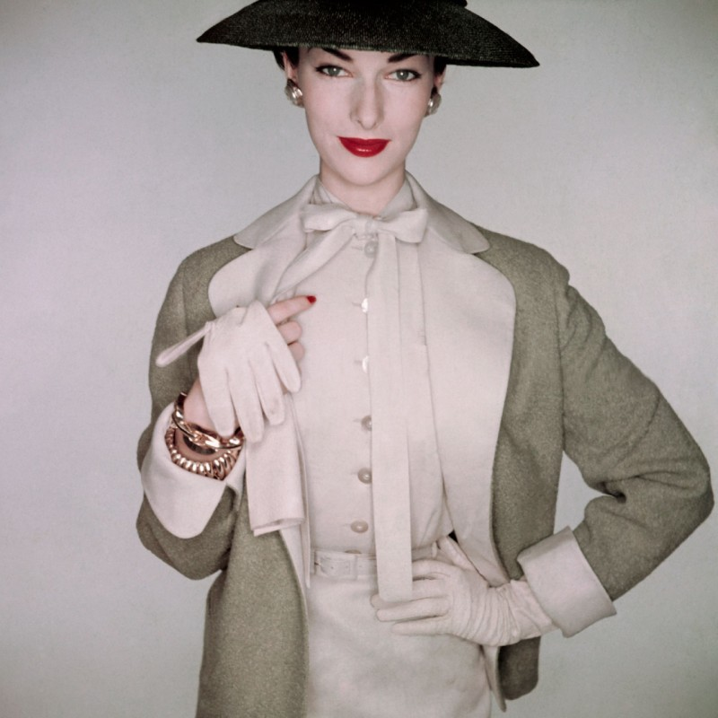 A vision of elegance, in 1953. Photographed by Clifford Coffin.