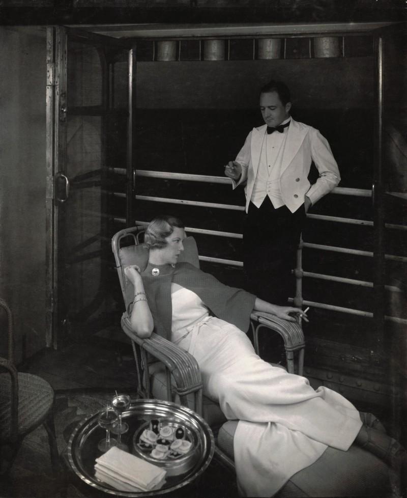 All aboard! Edward Steichen captures cruise liner life on 'Lurline' in 1934.