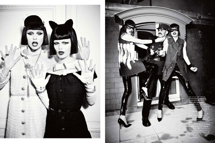 Anna Ewerts & Keke Lindgard by Ellen von Unwerth for Numéro China May 2013
