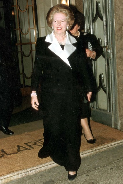 April 10 1992  Leaving London's Claridge's Hotel following an event.