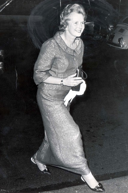 April 1968  Arriving at the Dorchester Hotel for an event.