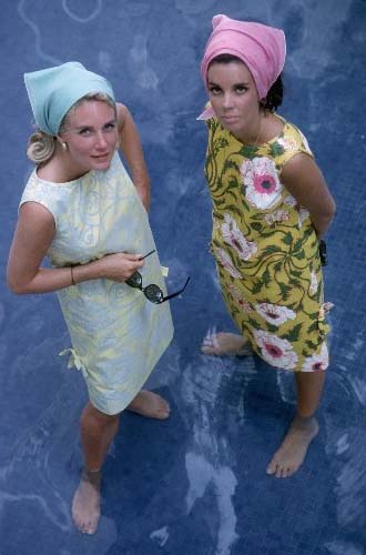 Assouline Wendy Vanderbilt and friend wearing Lilly Pulitzer dresses,1964