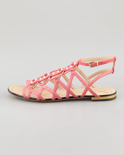 B Brian Atwood Agustina Stretch Flat Sandal