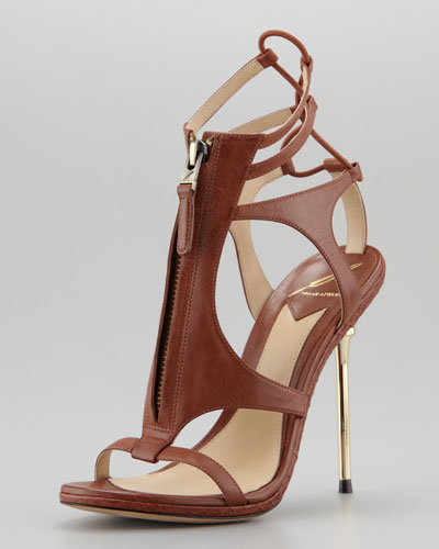 B Brian Atwood Merritta Zip-Front Sandal