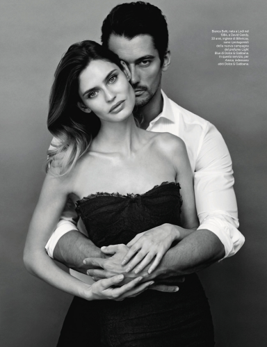Bianca Balti And David Gandy By Giovanni Gastel For Amica May 2013
