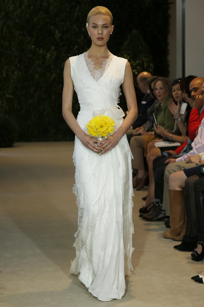 Carolina Herrera Bridal Spring 2014 Photo by John Aquino