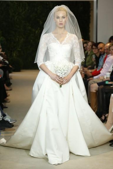Carolina Herrera Bridal Spring 2014 Photo by John Aquino