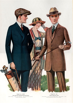 Catalog Illustration of Men's Sack Suits 1921 ©Corbis