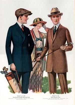 Catalog Illustration of Men's Sack Suits 1921 ©Corbis