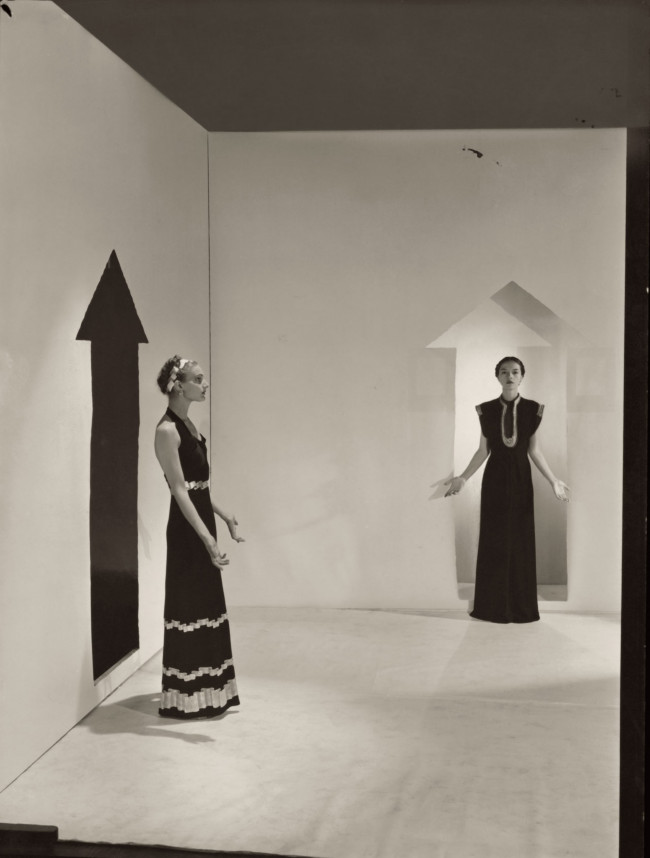 Cecil Beaton captures models in Schiaparelli designs from 1936.