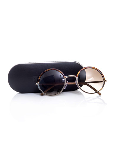 CUTLER AND GROSS Round two-tone sunglasses