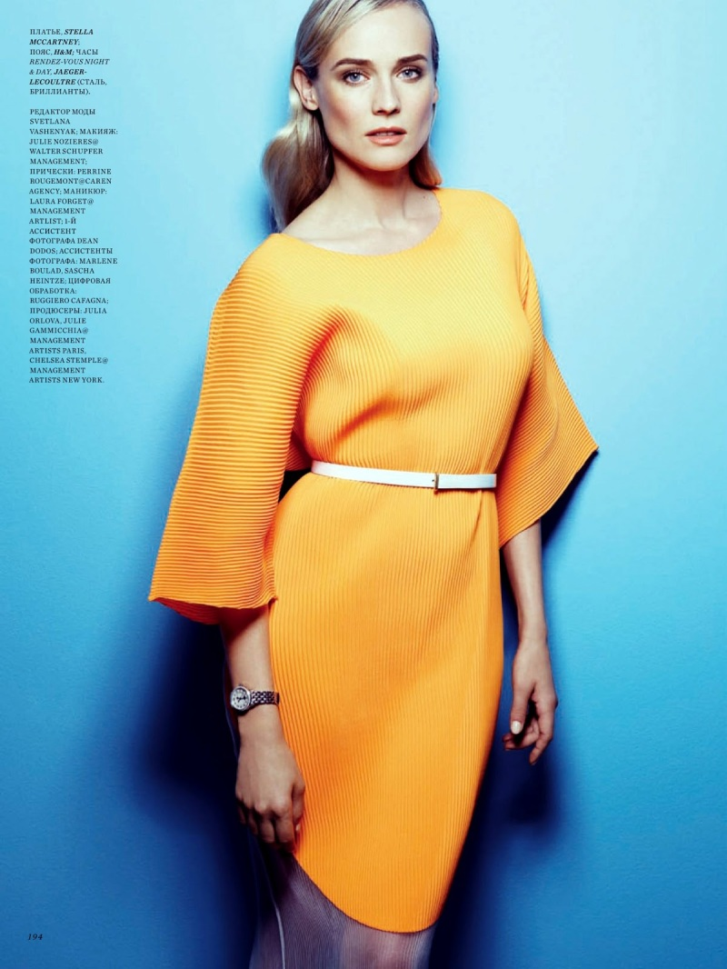 Diane Kruger by Mark Abrahams for Harper's Bazaar Russia May 2013