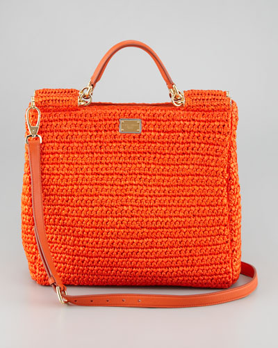 Dolce & Gabbana  New Miss Sicily Crochet Tote Bag