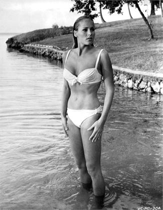 Dr. No, 1962  Ursula Andress, 1962 © Getty Images