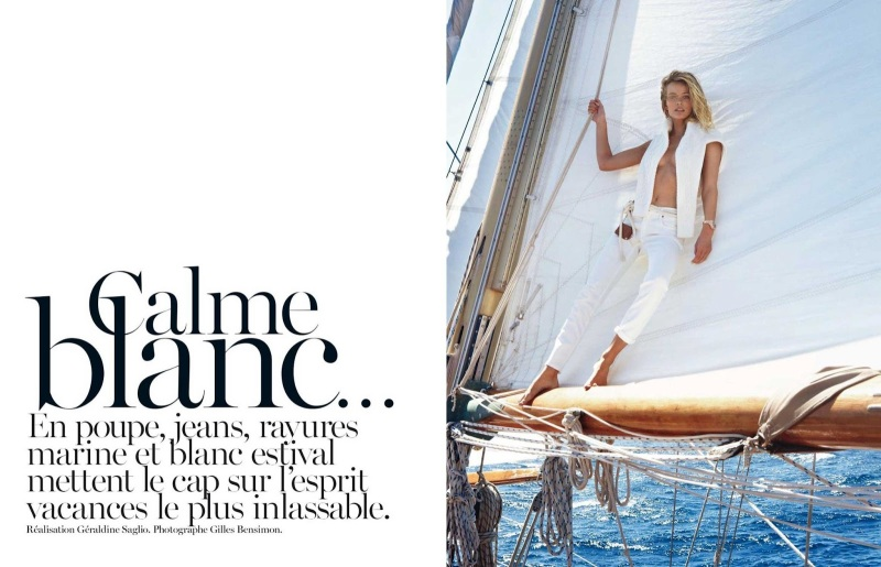 Edita Vilkeviciute by Gilles Bensimon for Vogue Paris May 2013
