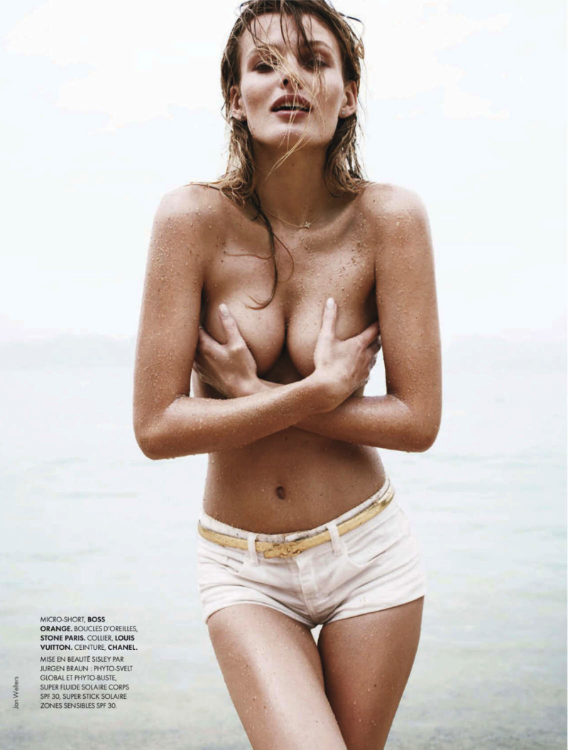 Edita Vilkeviciute by Jan Welters for Elle France April 26, 2013