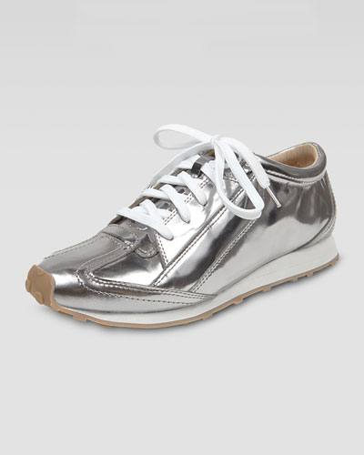 Elizabeth and James Metallic Leather Sneaker