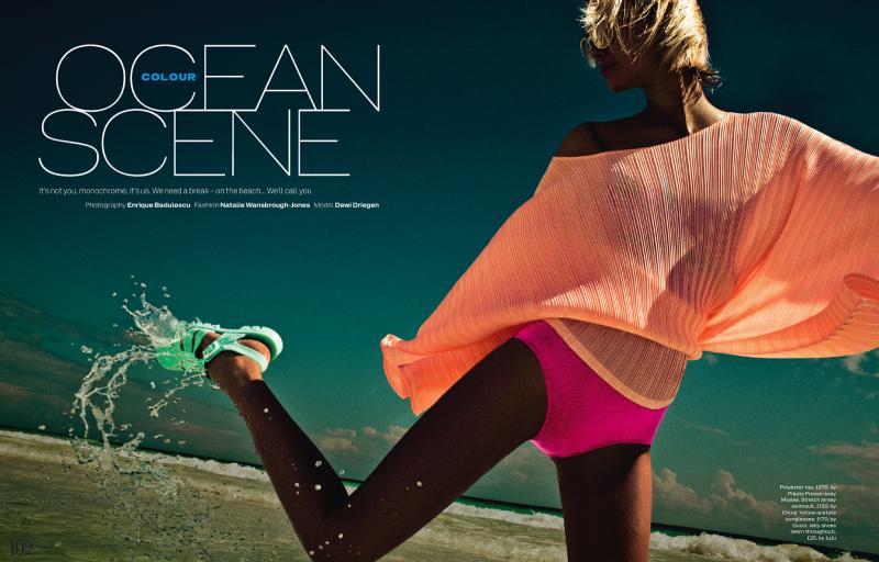 Elle UK :  Colour Ocean Scene