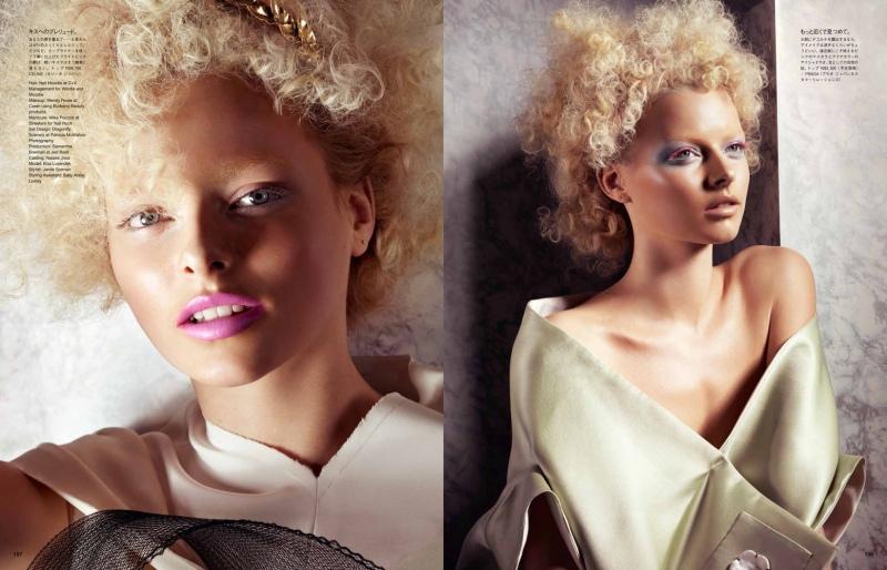 Elza Luijendijk by Jem Mitchell for Vogue Japan June 2013 issue