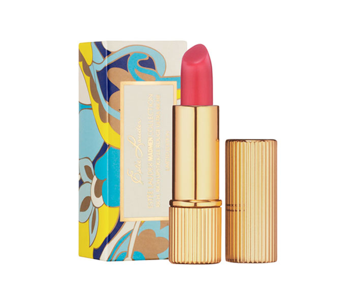 Estée Lauder Mad Men Collection Rich, Rich Lipstick Turn on your lips to a limited-edition lipstick inspired by the Award Winning AMC Drama Mad Men. Creamy, satin finish and smooth, rich color. The Pinkadelic shade captures the soft-lipped, sexy innocence of the '60s perfectly. Lipstick case and carton are replicas of actual designs from Estée Lauder's '60s era collections.