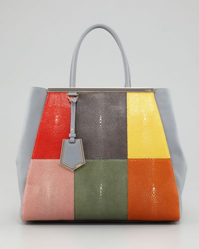 Fendi  2Jours Stingray Patchwork Tote Bag
