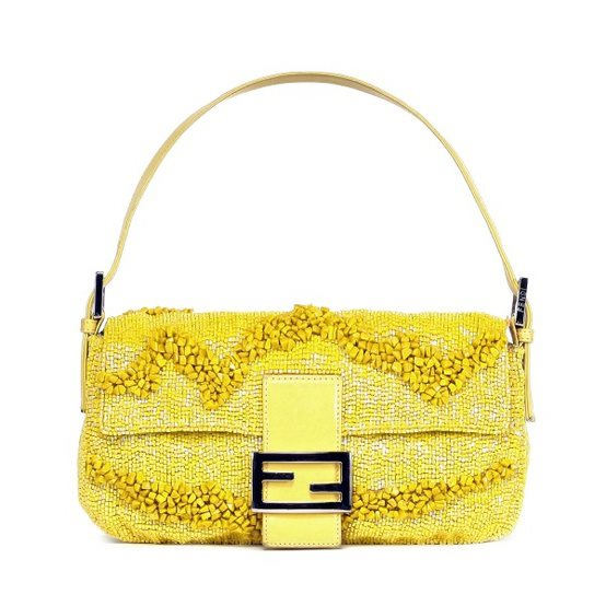 Fendi Beaded Shoulder Baguette