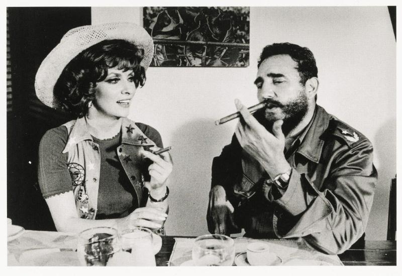 Gina Lollobrigida and Fidel Castro