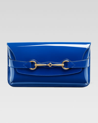 Gucci  Bright Bit Patent Leather Clutch Bag,