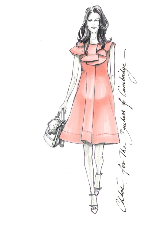Illustration by Clare Waight Keller for the Duchess of Cambridge