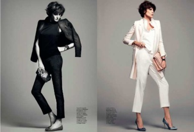 Inès de La Fressange by Nico Harper's Bazaar Spain May 2013