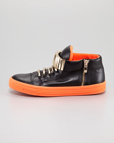 Jeffrey Campbell Patric Sneaker, Black Orange